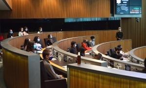 Un moment de la sessió plenària del 18è Consell General dels Joves.
