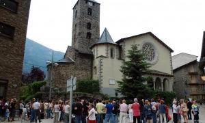 L'església de Sant Esteve d'Andorra la Vella.