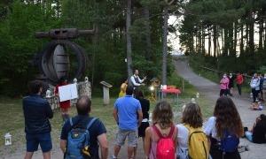 Un moment la visita teatralitzada d'aquest dimarts a la nit al camí hidroelèctric.