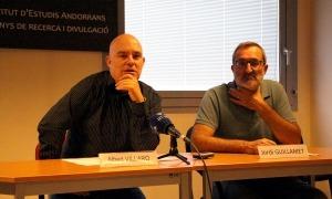 Albert Villaró i Jordi Guillamet el dia de la presentació de les beques en l'edició del 2019.