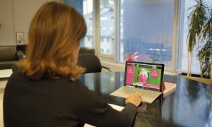 La ministra d'Educació i Ensenyament Superior, Ester Vilarrubla, durant la inauguració virtual del curs escolar.