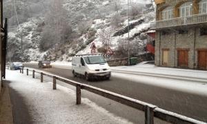 Una nevada anterior a Canillo.
