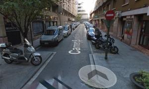 Una imatge del carrer Sant Esteve.