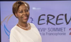 La secretària general de la Organització Internacional de la Francofonia (OIF), Louise Mushikiwabo.