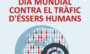 Cartell del dia mundial contra el tràfic d'éssers humans.
