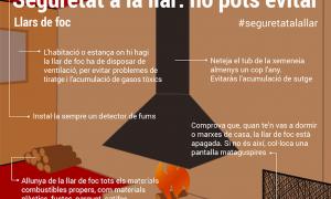 Alguns consells a l'hora d'encendre les llars de foc als habitatges.
