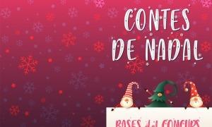 El cartell del Concurs de contes de Nadal.