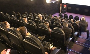 Una sala de cinema de l'illa Carlemany.