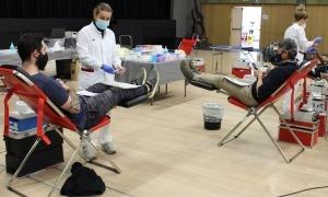 Un moment de la darrera campanya de donació de sang, també a Prat del Roure.