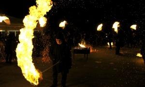 Cremada de falles a Ordino.