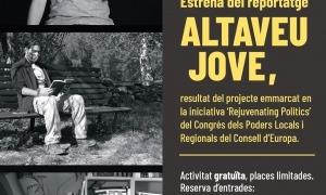Cartell de l'estrena del reportatge 'Altaveu jove'.