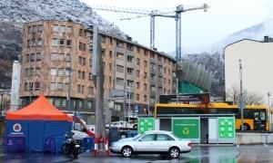 'Stop lab' mòbil a Andorra la Vella.