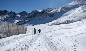 Dos esquiadors a Grandvalira.