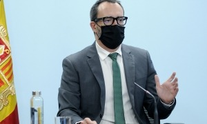El ministre d'Afers Socials, Habitatge i Joventut, Víctor Filloy, en una roda de premsa.