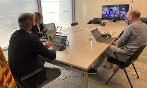 Un moment de la sessió de treball amb l'e-Governance Academy (EGA) d'Estònia.