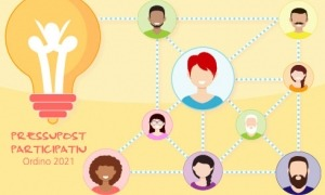 Cartell promocional de la iniciativa del pressupost participatiu.