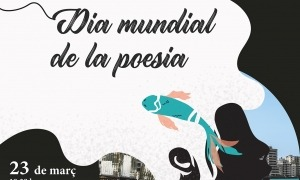 El cartell del Dia mundial de la poesia.