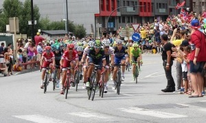 Una imatge del pas del Tour pel país.
