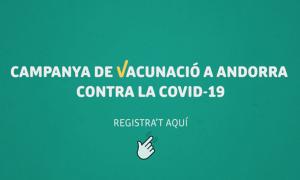L'anunci per al registre a la campanya de vacunació.