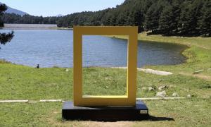 El Yellow Border situat al llac d'Engolasters.