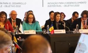 Un moment de la reunió de ministres iberoamericans d'Afers Exteriors que es va celebrar a Soldeu el 2019.