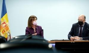 Ester Vilarrubla i Xavier Campuzano durant la roda de premsa.