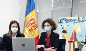 Les ministres Sílvia Riva i Maria Ubach aquest divendres.