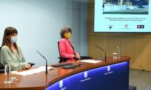 Marta Planas i Itziar Badenas durant la presentació dels guanyadors.