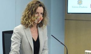La ministra Sílvia Calvó en una compareixença anterior.