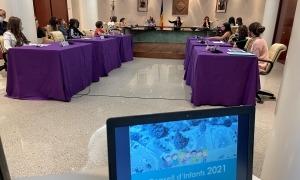 Un instant de la sessió del Consell d'Infants.