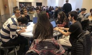 Alumnes participants en una edició anterior del projecte Tàndem.