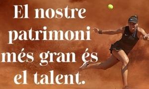 La imatge de la tennista Vicky Jiménez.