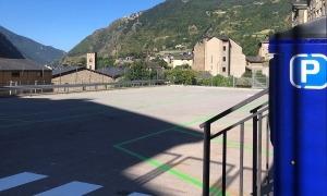 El nou aparcament ubicat a la zona del Pedral, a Encamp.