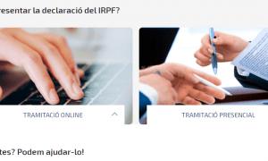 L'oficina virtual d'impostos del Govern.