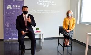 El ministre de Presidència, Economia i Empresa, Jordi Gallardo, i la directora d'Andorra Business, Judit Hidalgo.