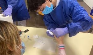 El personal sanitari comença avui la segona tanda de tests a la planta -3 de l'Hospital Nostra Senyora de Meritxell.