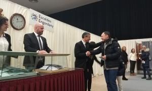 El candidat demòcrata a cap de Govern, Xavier Espot, a punt de votar a Escaldes-Engordany.