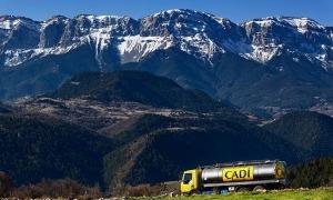Un dels camions de la cooperativa de l'Alt Urgell
