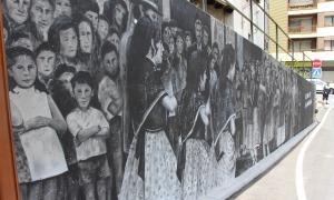 El mural pintat per l'artista Samantha Bosque.