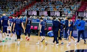 Els jugadors del MoraBanc en l'últim partit disputat.