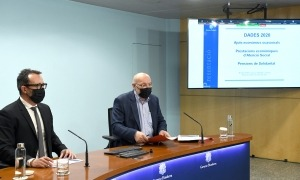 El ministre d'Afers Socials, Habitatge i Joventut, Víctor Filloy, i el director d'Afers Socials i Joventut, Joan Carles Villaverde.