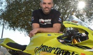 Raül Torras, de l'equip Martimotos.com, pateix una forta caiguda al Macau Grand Prix