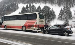 Tres ferits en un accident entre un cotxe i un autobús a Canillo Tres ferits en un accident entre un cotxe i un autobús a Canillo