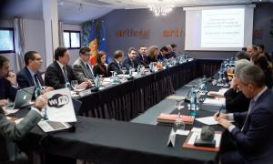 La reunió que el Comitè mixt de l'acord monetari ha mantingut aquest matí.