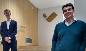 El director d'Inversions de Vall Banc i el fundador dde Microwd, Alejandro de León.