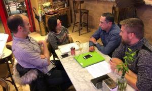 La nova junta de l'ADPA, amb Jordi Planellas, Anna Maria Mangot, Gerard Bonell i el nou president, Josep Maria Garrido (Foto: ADPA).