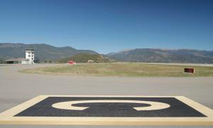 Vista de l'aerport d'Andorra-La Seu d'Urgell