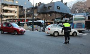 Un agent de circulació d'Andorra la Vella.