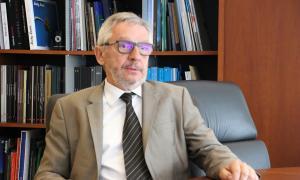 El director general de BancSabadell d'Andorra, Miquel Alabern, durant l'entrevista.