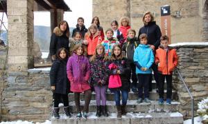 Una quinzena d'alumnes de l'escola francesa visiten el comú d'Ordino  Una quinzena d'alumnes de l'escola francesa visiten el comú d'Ordino